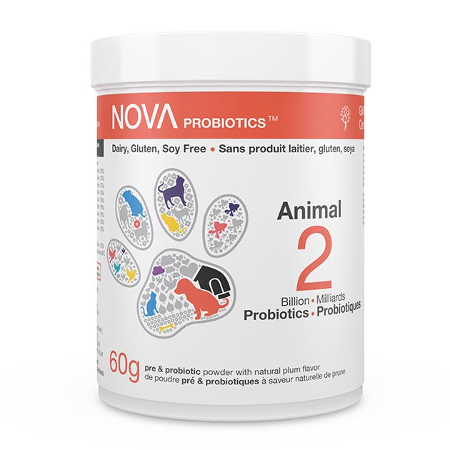 NOVA Probiotics - NOVAnimal - Animal. 2 Billion CFU per scoop.