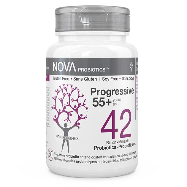 NOVA Probiotics - Multi-Strain - Progressive 55+. 42 Billion CFU per capsule.