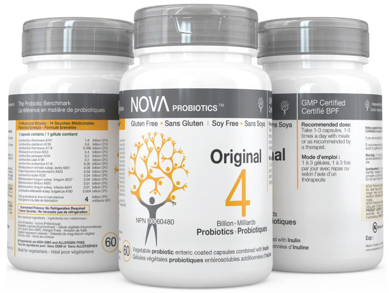 Multi-Strain Probiotic. Original - NOVA Probiotics. Including 14 beneficial probiotic strains.